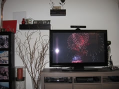 """My 44"""" TV. Can you spot the antenna."""