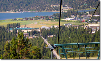 Summit Chair Lift big bear in summer - los angeles area life